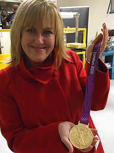 Colette Hume with the new gold medal
