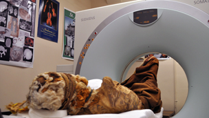 The mummy in the CT scanner