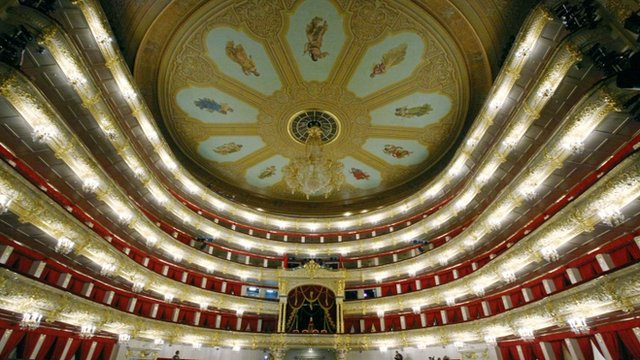 Main hall of Moscow's Bolshoi theatre