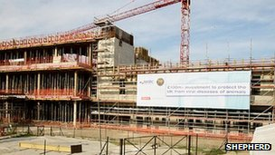 Building site of new Pirbright lab (Pic credit: Shepherd)