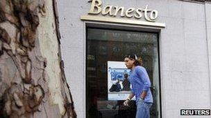 Banesto bank in Spain