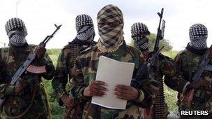 Al-Shabab's military spokesman Sheik Abdul Asis Abu Muscab