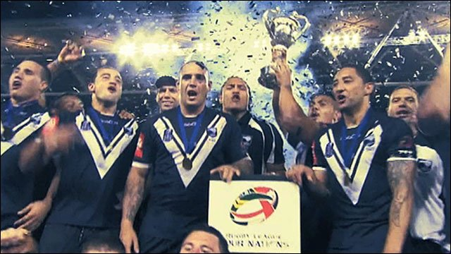New Zealand celebrate after winning the 2010 Four Nations