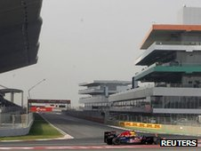 The Indian Grand Prix circuit