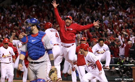 St Louis Cardinals celebrate