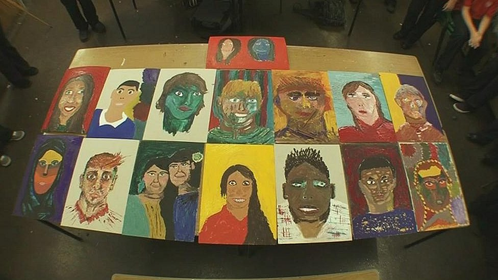 Self portraits of St Cyres' students