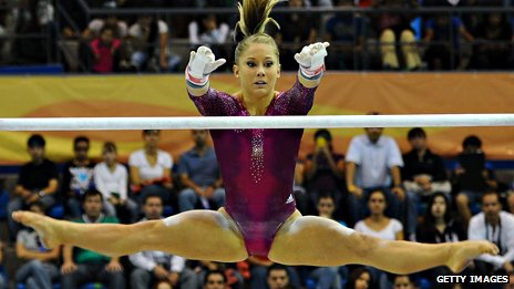 Shawn Johnson at the Pan American Games in Mexico
