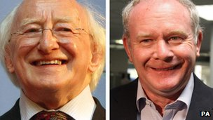 Michael D Higgins and Martin McGuinness (composite)