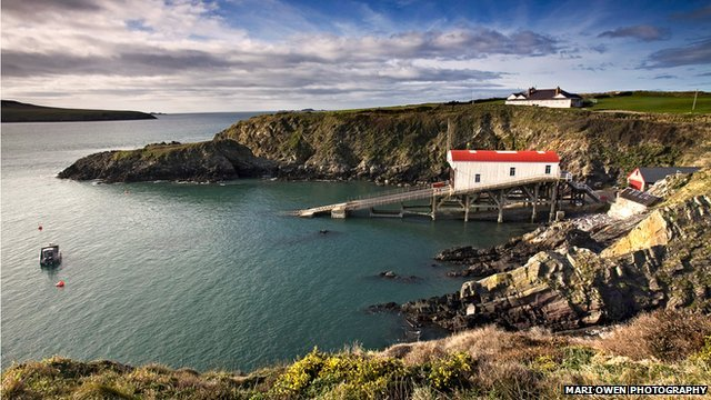 St Justinians in Pembrokeshire from the coastal path. Pic: Mari Owen Photography