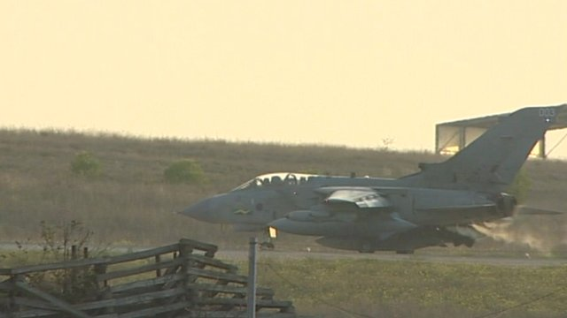 RAF Tornado preparing for take-off
