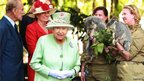 The Queen was shown koalas