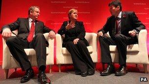 Tom Harris, Johann Lamont and Ken Macintosh