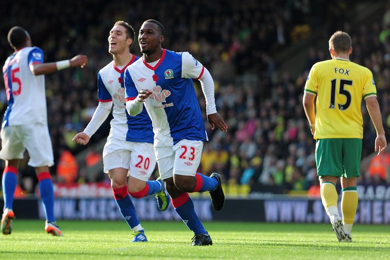 Junior Hoilett of Blackburn Rovers