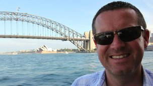 Paul Robinson, Sydney Harbour bridge in background