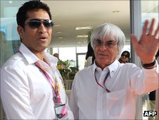 Sachin Tendulkar and Bernie Ecclestone