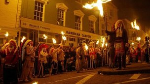 Lewes bonfire event