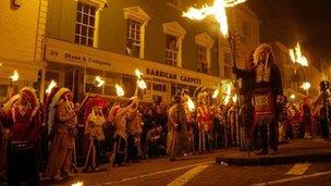 Lewes bonfire event