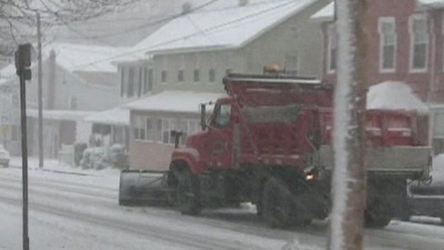 Snow plough in Pennsylvania