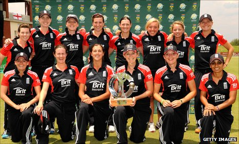 England with the Twenty20 series trophy