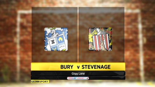 Bury 1-2 Stevenage