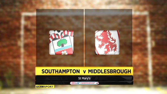 Southampton v Middlesborough