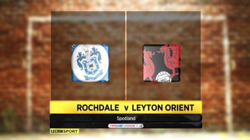 Rochdale 0-2 Leyton Orient
