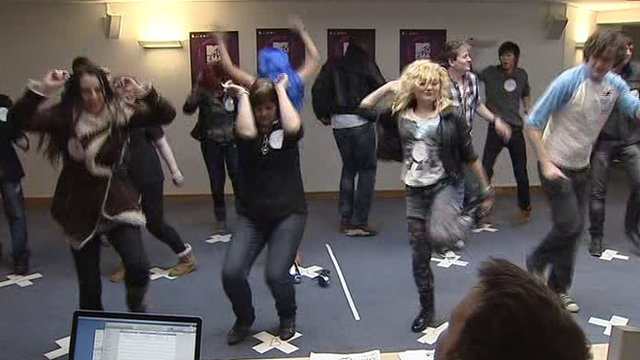 Fans audition for EMA tickets in Belfast
