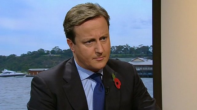 Prime Minister David Cameron interviewed on The Andrew Marr Show