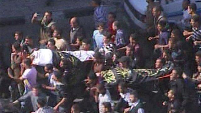 Funeral procession in Gaza