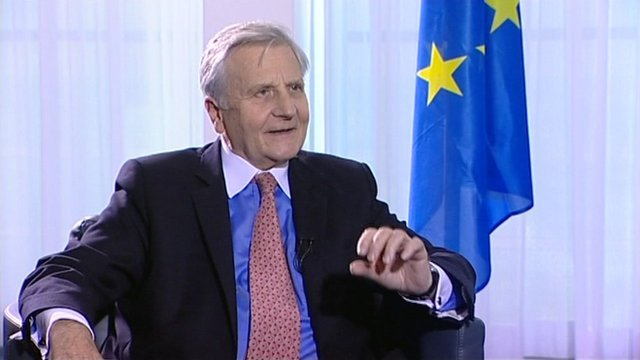 Outgoing President of the European Central Bank Jean-Claude Trichet