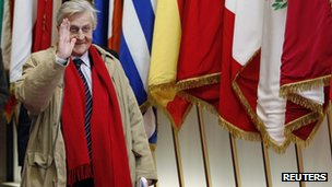 Jean-Claude Trichet, departing head of the European Central Bank