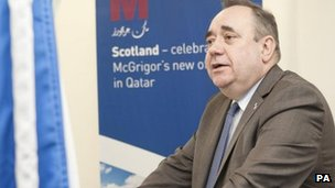 Alex Salmond in Qatar