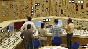 Control room at Tihange nuclear plant, Belgium