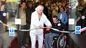 Sir Jimmy Savile at Stoke Mandeville