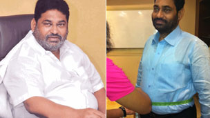 Nitin Raut, before and after weight loss