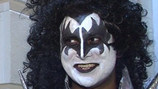 A man dressed up as Gene Simmons