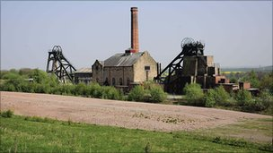 Pleasley pit in Mansfield, Nottinghamshire