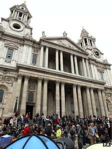 Protesters at St Paul's Cathedral