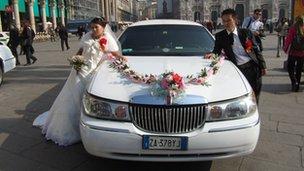 Wedding party in Milan