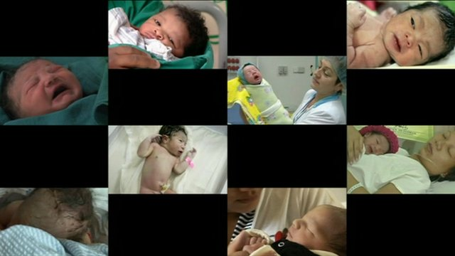 Some of the babies nominated to be the seven billionth human on the planet