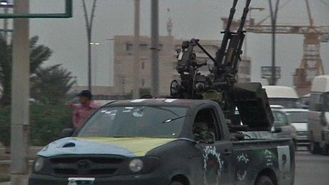 Armed vehicle in Libya