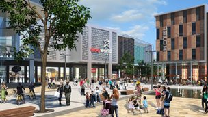 Artist&#039;s impression of the Southwater scheme