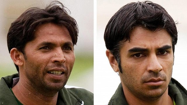 Mohammad Asif (left) and Salman Butt