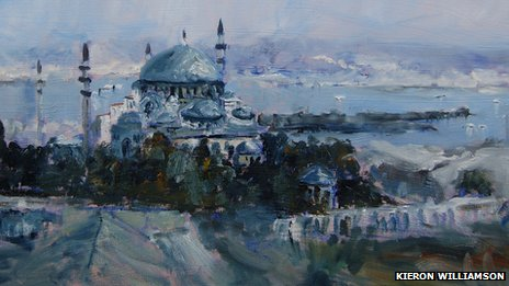 Suleymaniye Mosque at Istanbul, Turkey (detail) by Kieron Williamson