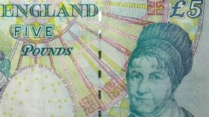 Elizabeth Fry on a 5 note