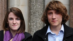 Callum Hurley and Katy Moore