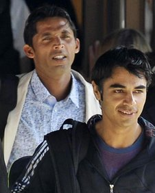 File photo dated 01/09/10 of Pakistan cricketers Mohammad Asif (left) and captain Salman Butt.