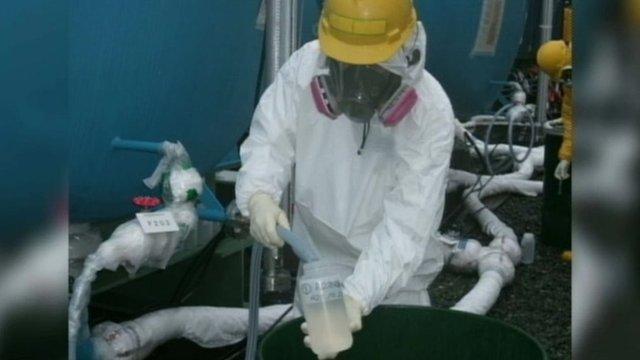 Collecting water from Fukushima