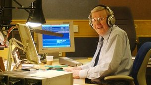 Sir Jimmy Young's last regular Radio 2 show in 2002