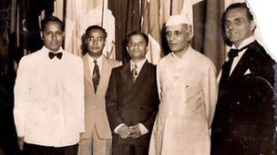Rajini's grandfather with Indian PM Nehru